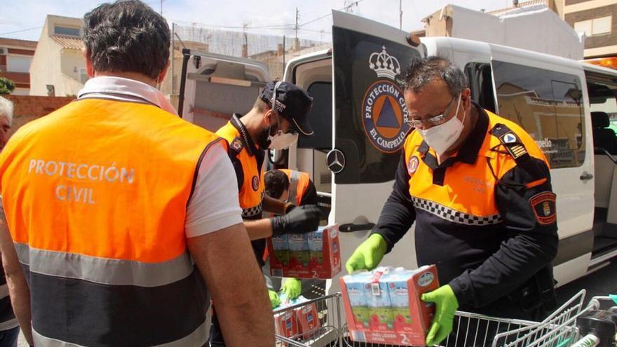 Protección Civil de El Campello activa un servicio de compra de alimentos y medicamentos