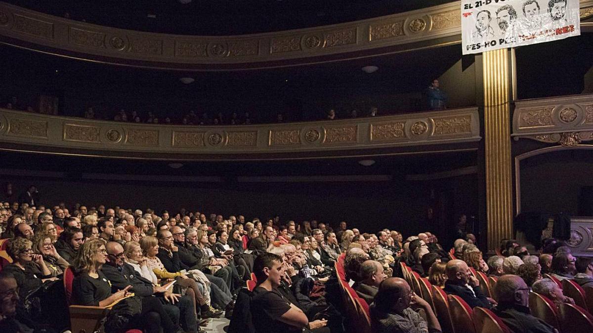 Acte d'ERC al Conservatori de Manresa el 2017, una imatge que no es repetirà enguany