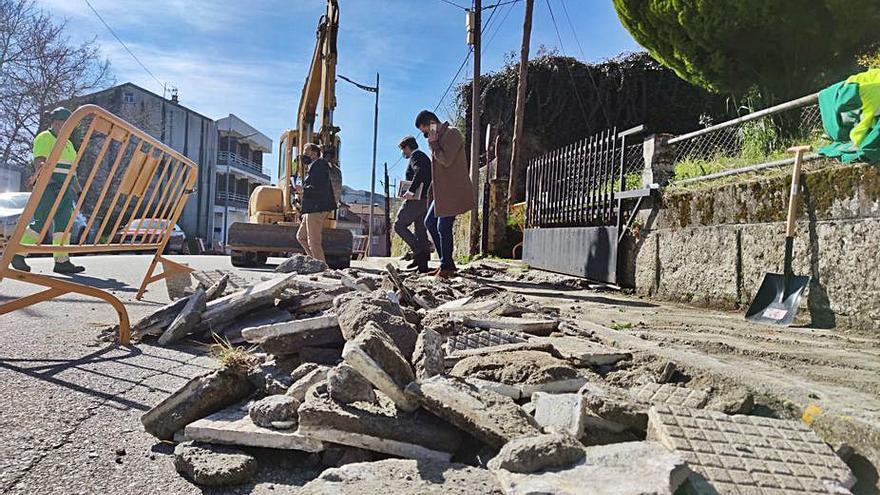 Ponte Caldelas inició las obras de reforma de la avenida de Galicia que finalizarán en cuatro meses