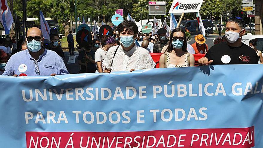 El BNG se une a la protesta contra el plan de universidad privada de Abanca