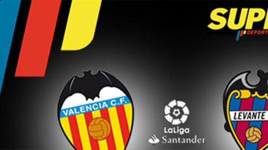 Horario y dónde ver el Valencia CF - Levante UD