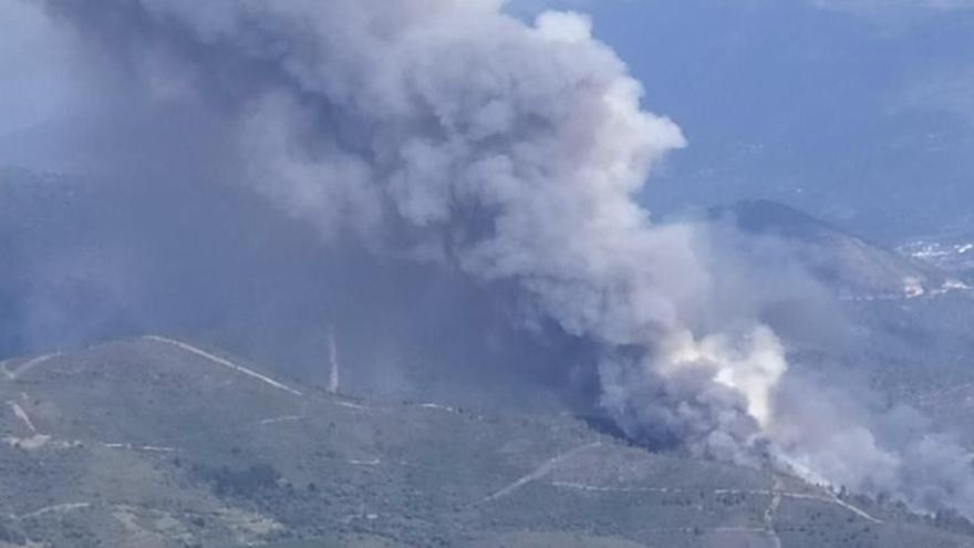 Controlado el fuego de Quiroga después de quemar 150 hectáreas