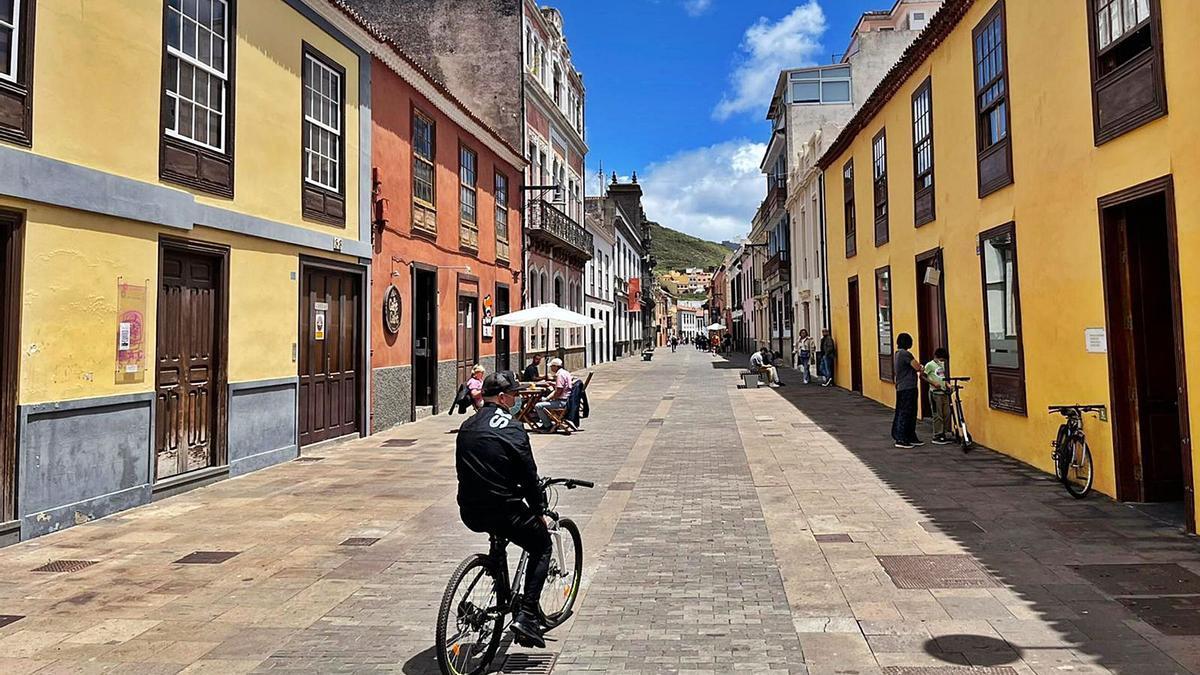 Imagen de la calle San Agustín, en el casco histórico de La Laguna.