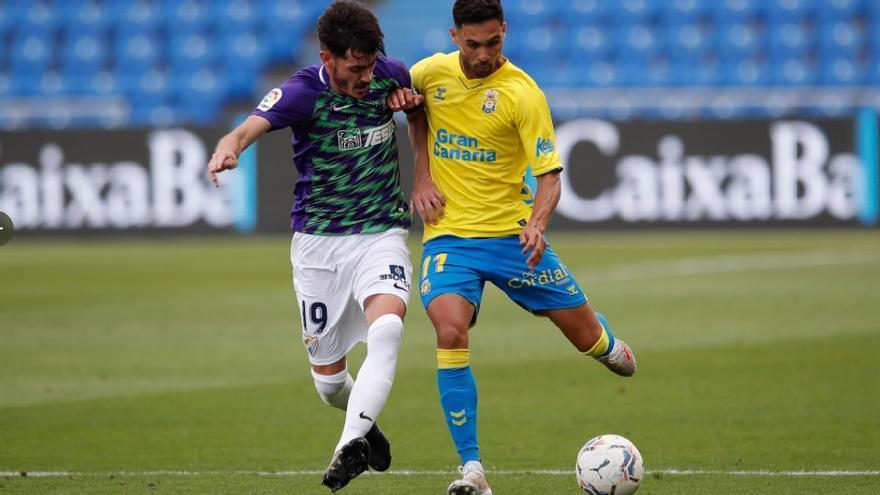 La UD Las Palmas recupera el prestigio ante el Málaga (1-1)