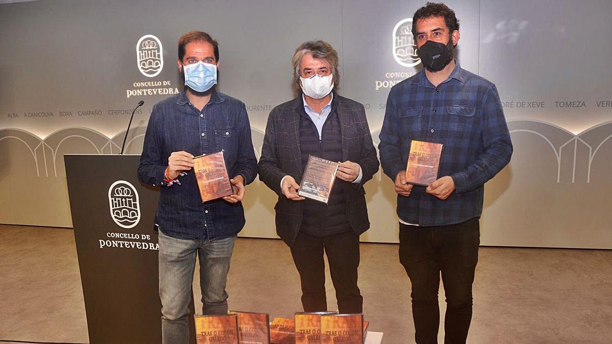 Iván Puentes, Eduardo Esteban Meruéndano y Fernando Portela.   | // RAFA VÁZQUEZ