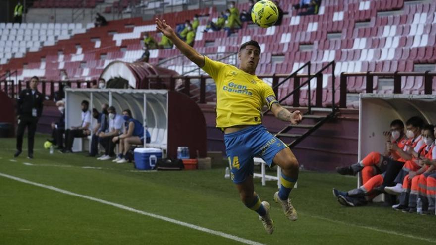 Aridai endulza el cierre liguero y deja a la UD Las Palmas novena en el entierro del Logroñés (0-1)
