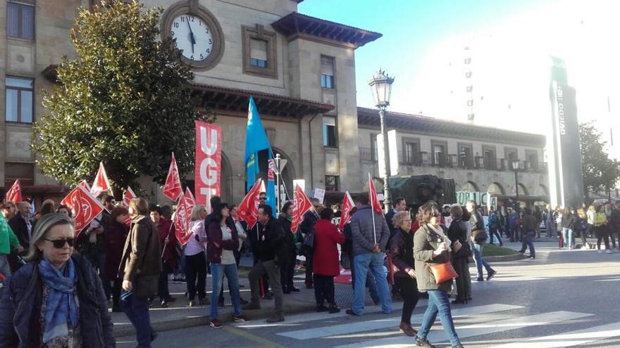 Los estudiantes asturianos rechazan la LOMCE en las calles