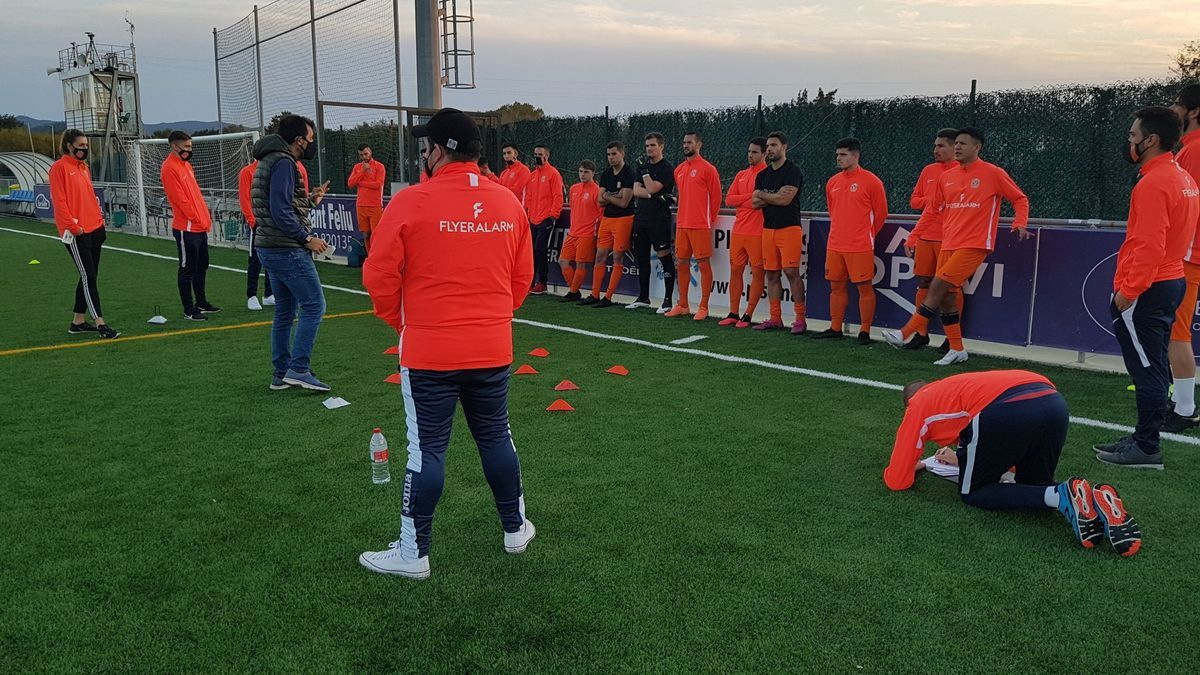 El equipo Platges de Calvià al completo, momentos antes del encuentro.