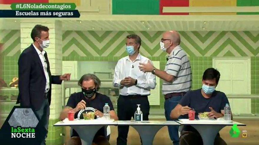 'La Sexta Noche' recrea la vuelta al cole en directo para minimizar el riesgo de contagio por coronavirus