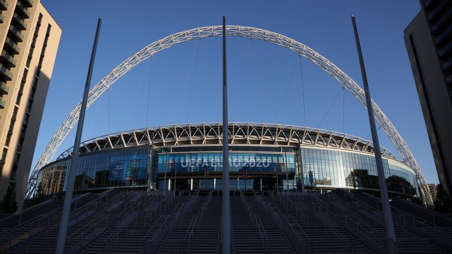 Wembley acogerá a más de 60.000 aficionados en las semifinales y la final de la Eurocopa