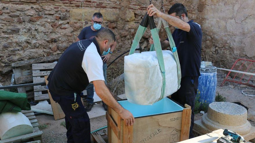 Devuelven a Cartagena dos pedestales romanos que desde 1886  estaban en Madrid