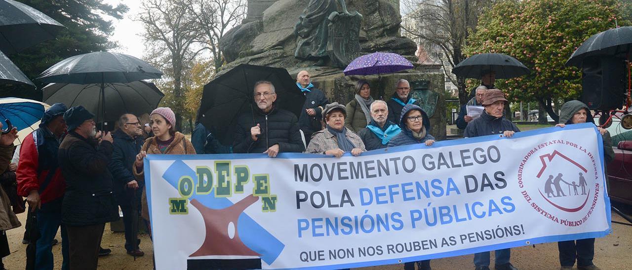 Protesta de pensionistas en Pontevedra