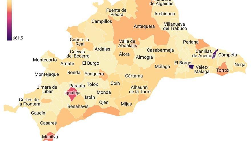 Mapa Covid Malaga 13 de septiembre