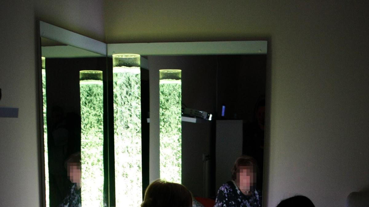 Sala sensorial para enfermos de alzhéimer en Zamora.