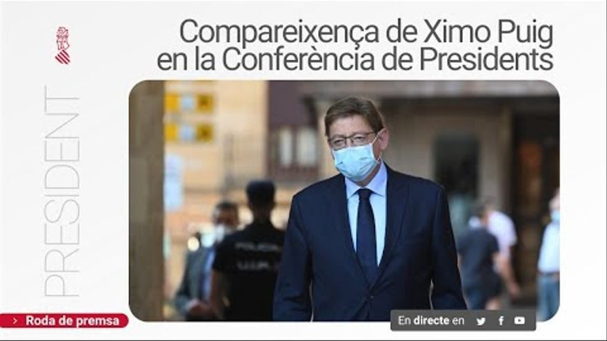 Ximo Puig, en directo desde la Conferencia de Presidentes
