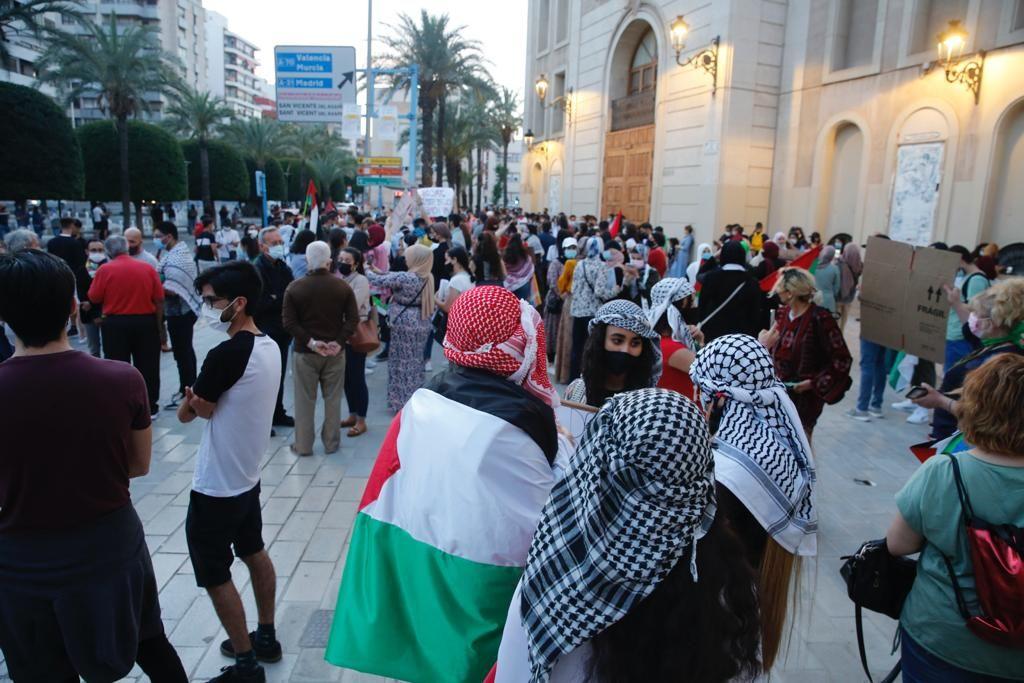 Concentración de apoyo al pueblo palestino en Alicante