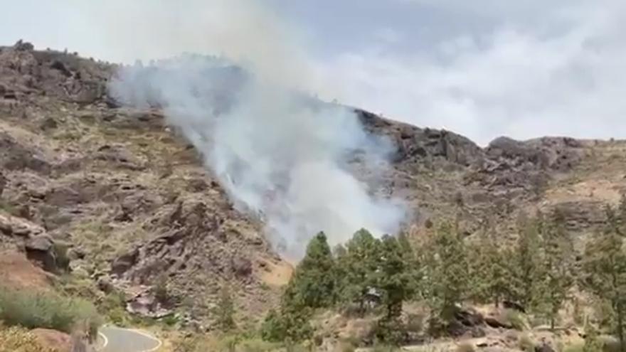 Incendio forestal en El Mulato bajo aviso naranja por altas temperaturas