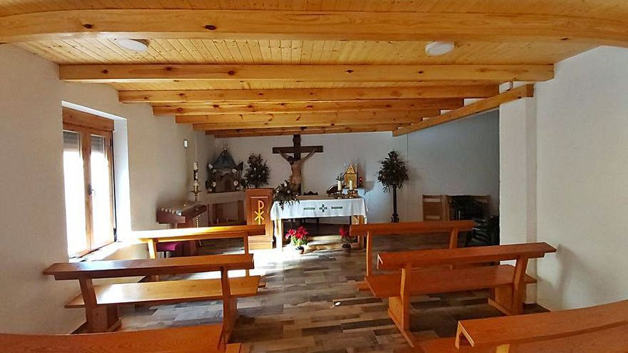 Las obras en la parroquia de una aldea de Utiel permitirán su reapertura