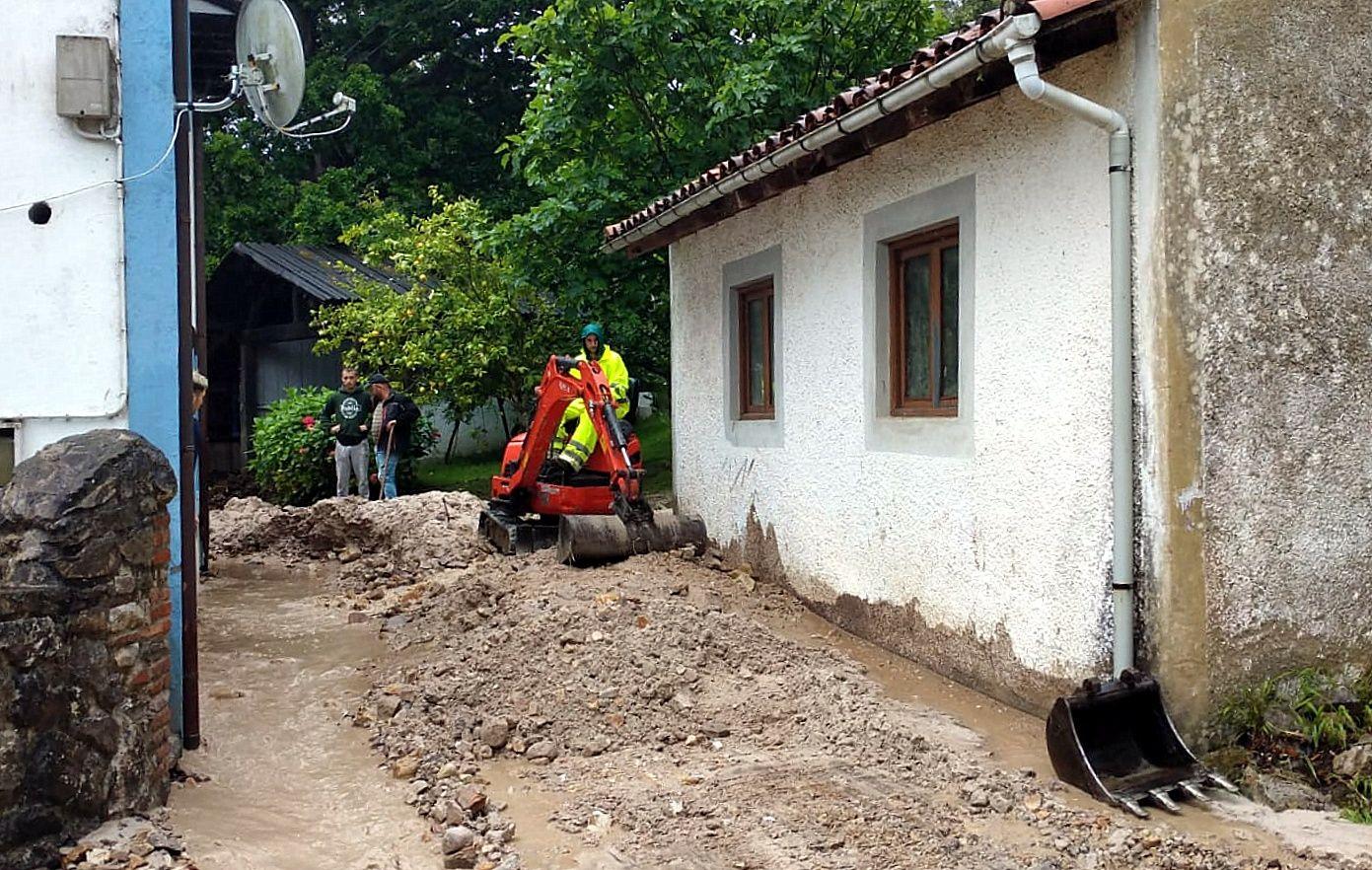 Daños ocasionados por el temporal en Riego