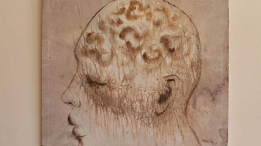 Una de las obras que forma parte de la muestra de Francesc Florit.