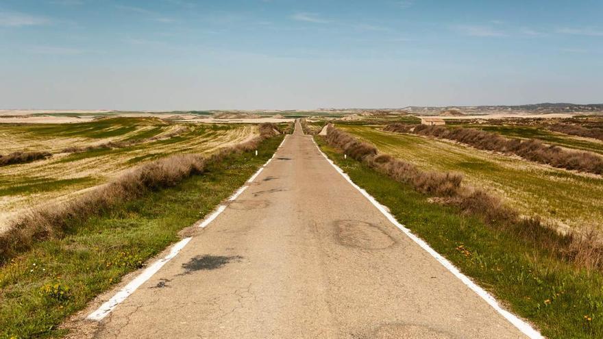 La DGA acondicionará la carretera entre Bujaraloz y  Alborge