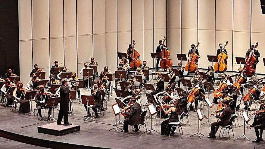 Una panorámica de la Orquesta, dirigida por Dudamel. | | MARÍA PISACA