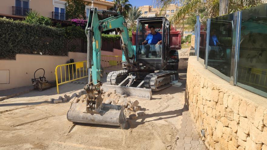 El Campello inicia unas obras en la zona de l'Almadrava para evitar inundaciones en las viviendas