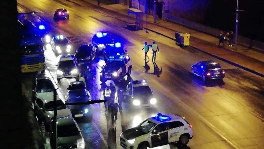 Detenido tras una persecución de película en Galicia con cuatro agentes heridos