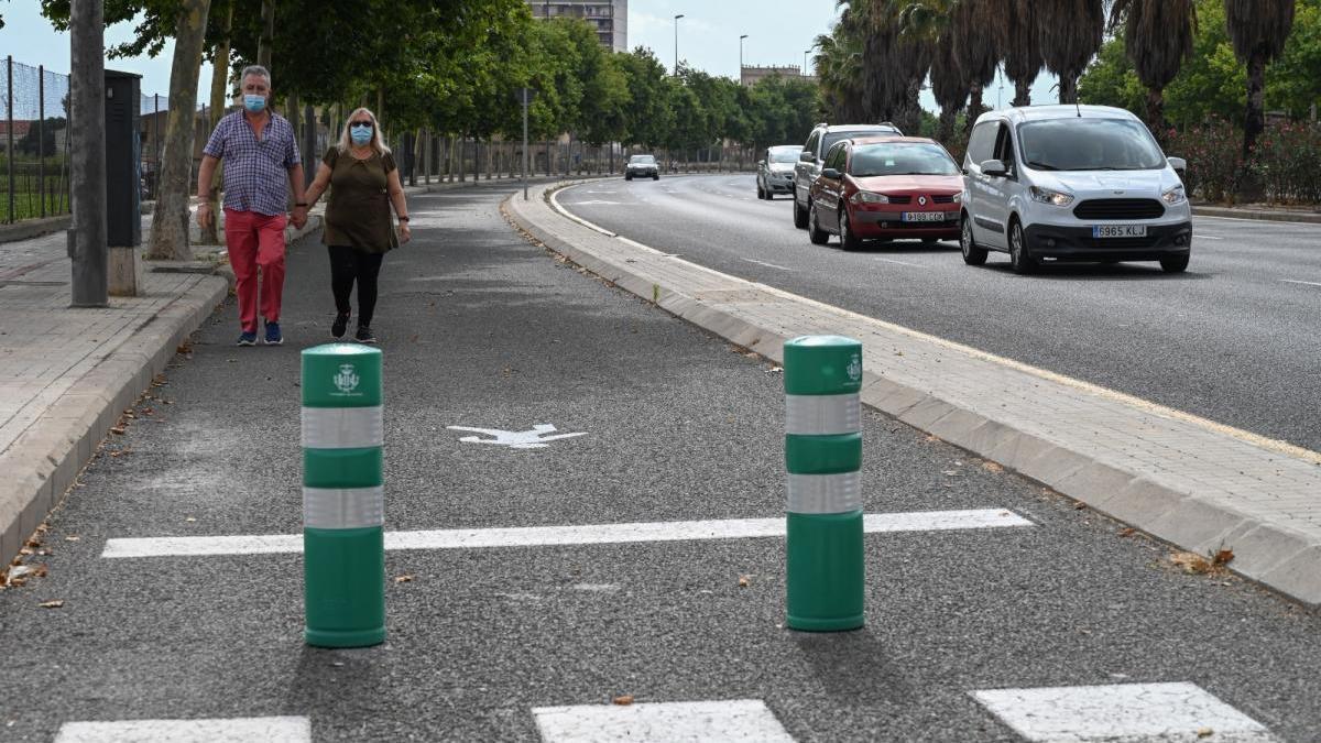 Peatonalizan un carril sin uso de la Ronda Nord y otro será un carril bici