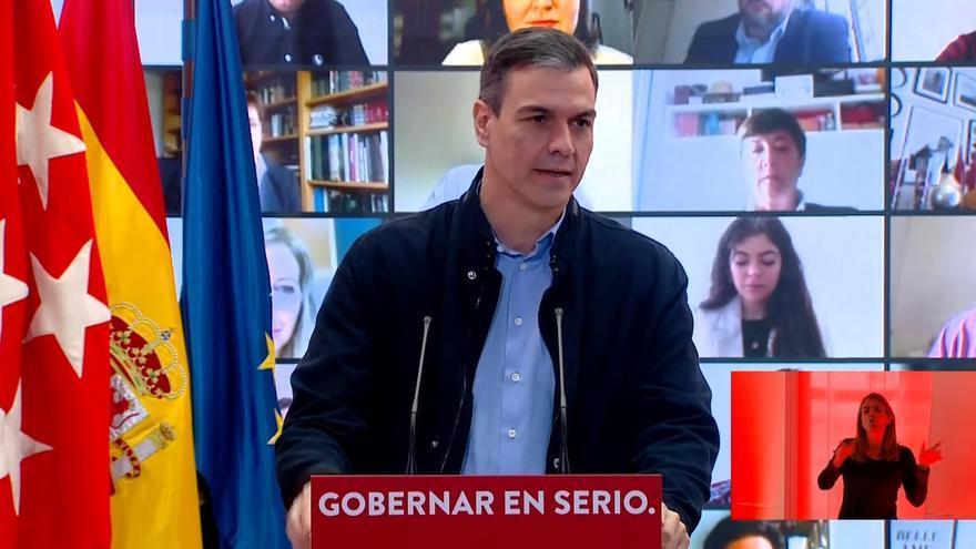 """Sánchez alerta de que el PP y VOX quieren formar """"el Gobierno de la plaza de Colón"""""""