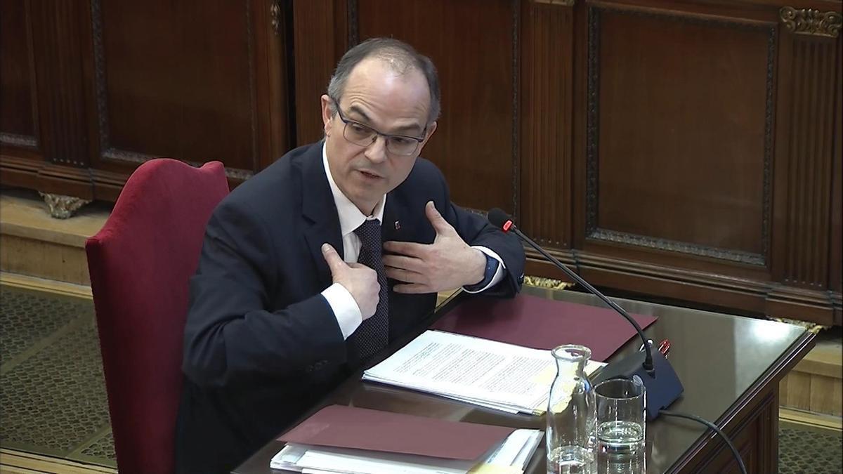Jordi Turull durante el juicio en el Tribunal Supremo