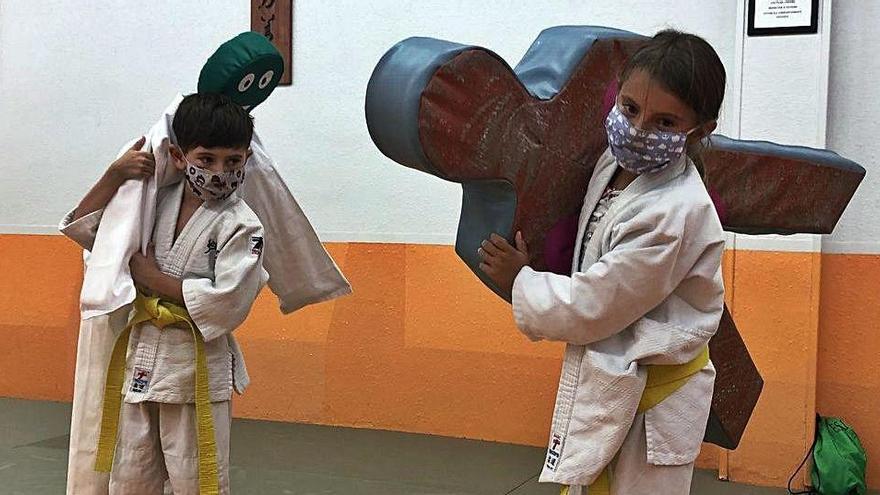 «Els ninots d'escuma ens han servit per fer judo»