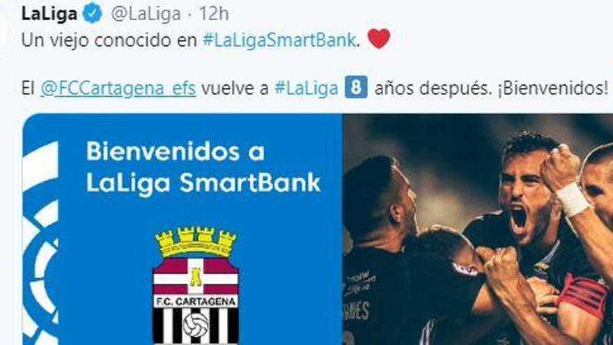 El ascenso del FC Cartagena inunda las redes sociales