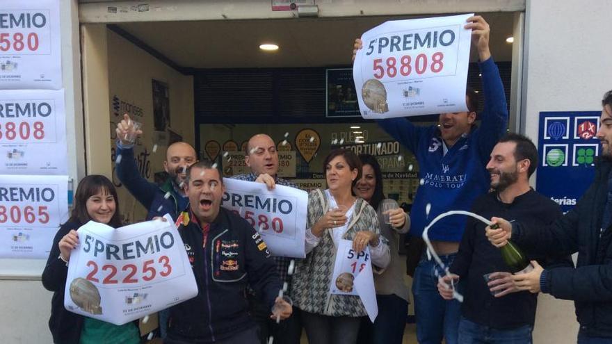 Manises reparte más de 500.000 euros con cuatro quintos premios