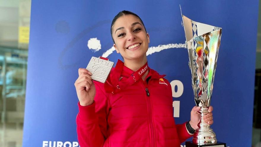 La almendralejense Marta García, plata europea por equipos con España