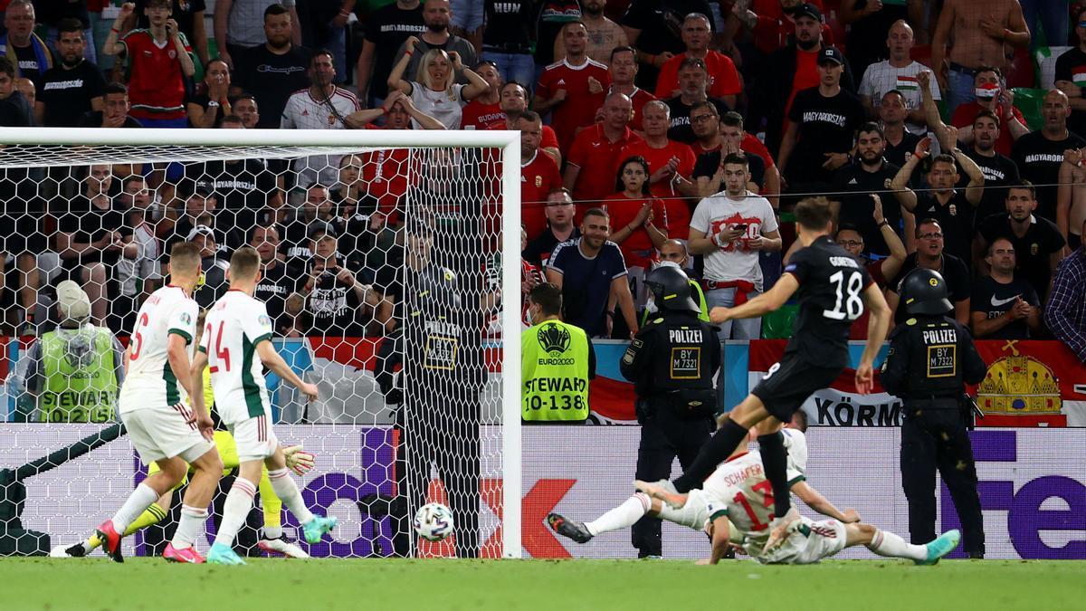 Los alemanes marcan el gol decisivo para estar en octavos