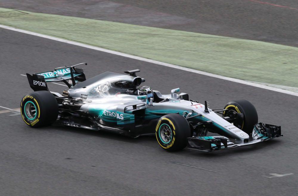 Mercedes' Valtteri Bottas in action during the ...