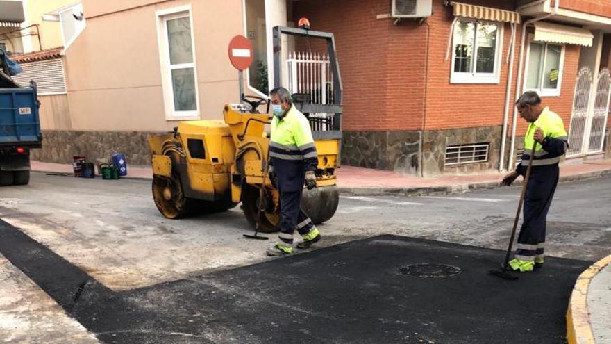 El Ayuntamiento de Monóvar, inmerso en varias obras de mejora en las infraestructuras de la localidad