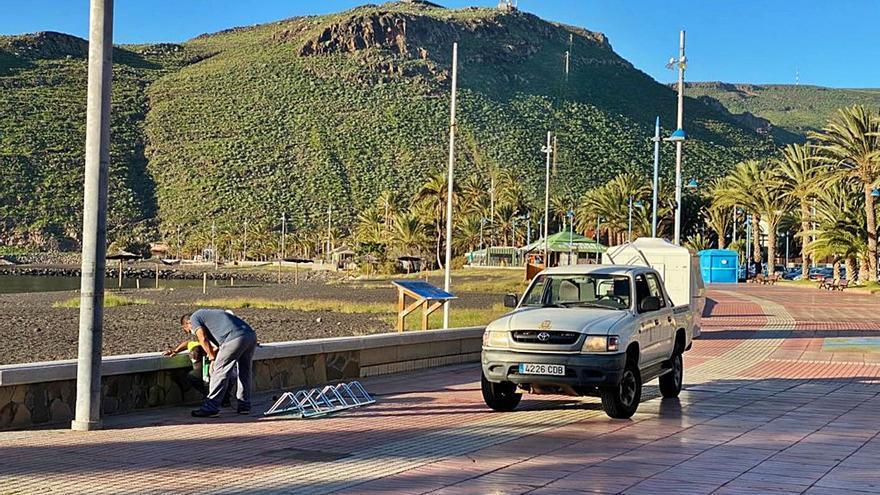 San Sebastián instala aparcabicis
