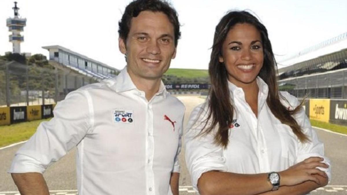 Marcos Rocha compartía pantalla con Lara Álvarez desde pit lane y el paddock de las retransmisiones de Moto GP que hacía Telecinco en el año 2013.