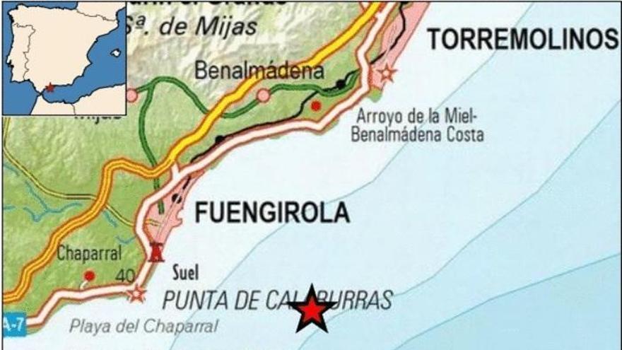 Fuengirola registra un terremoto de 3,5 de magnitud