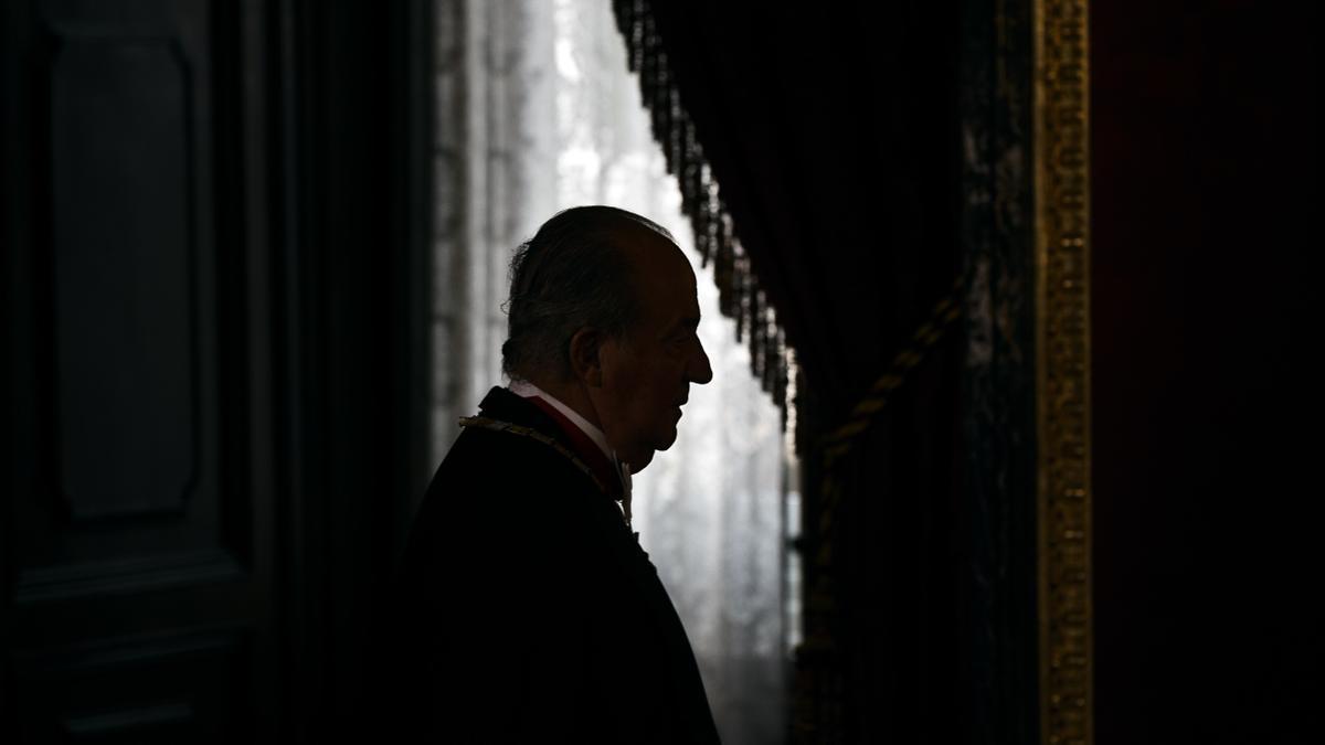 Der damalige König Juan Carlos bei einem Empfang im Jahr 2014.