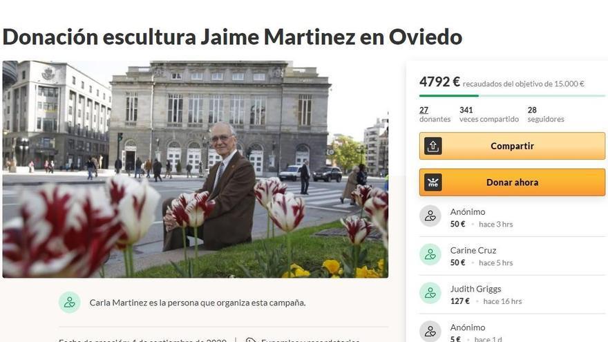 Avanza la campaña popular para hacerle una escultura-homenaje a Jaime Martínez