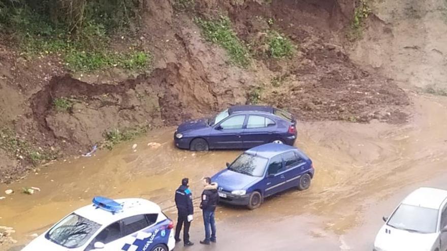 Desprendimiento de un talud en Vilaboa