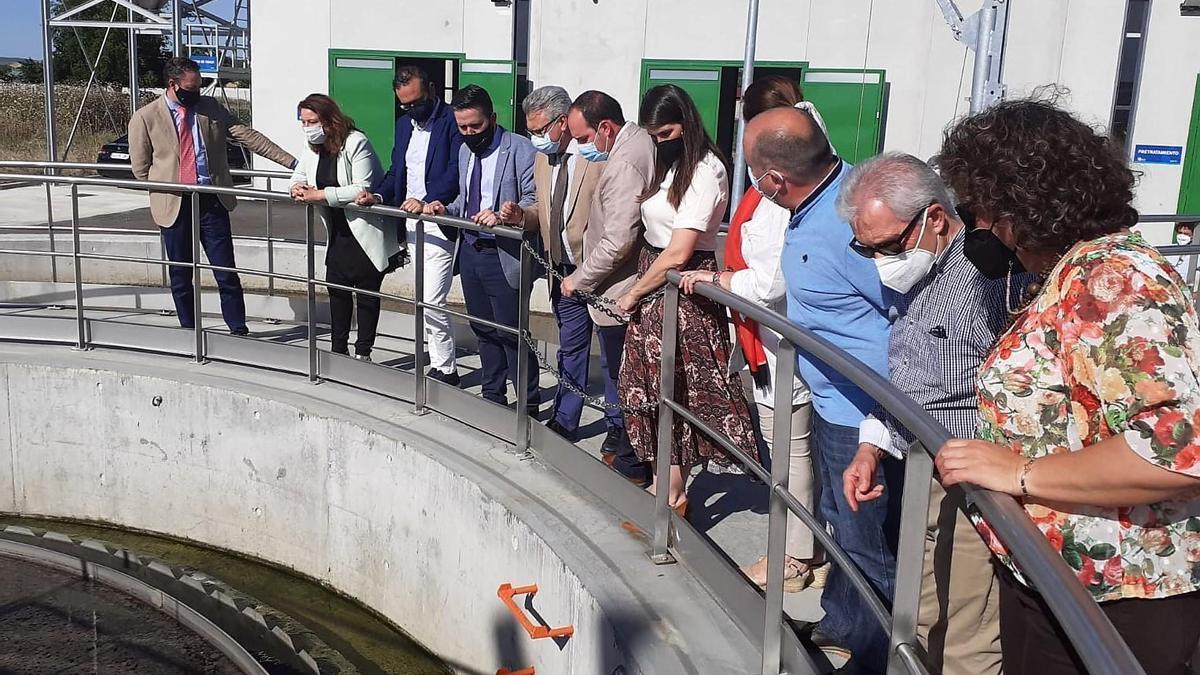 Inauguración de la depuradora de Santaella.