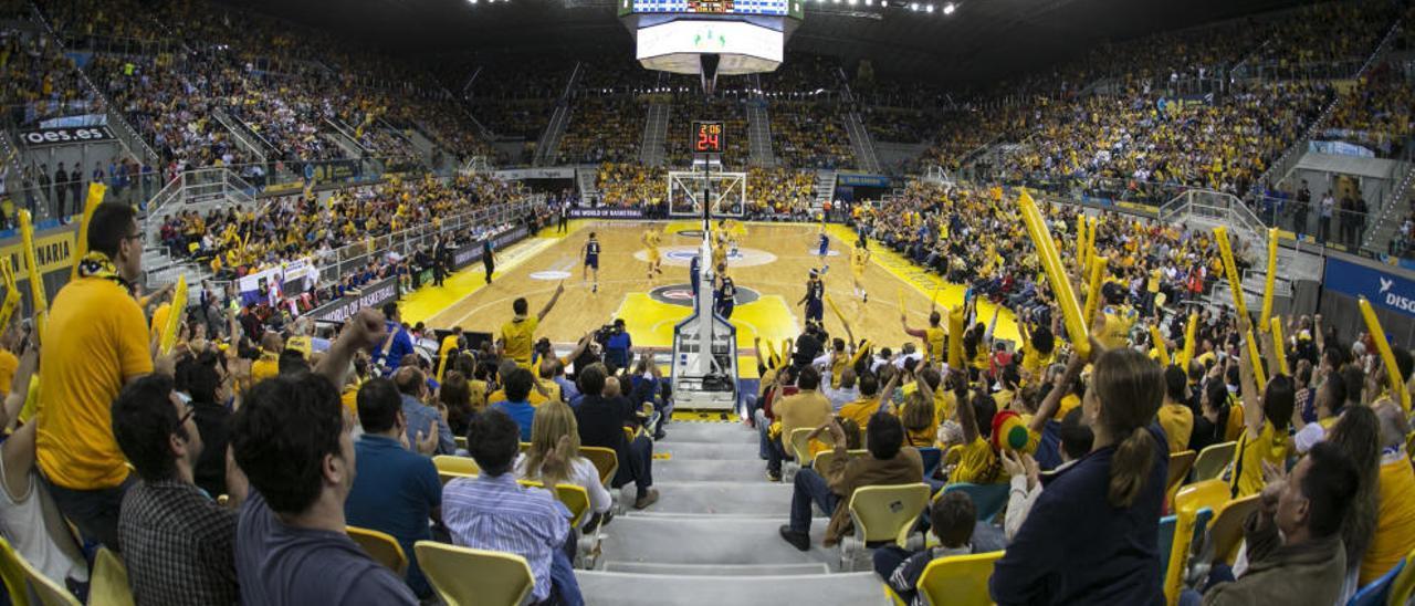 Panorámica del Gran Canaria Arena durante la final de la Eurocup.