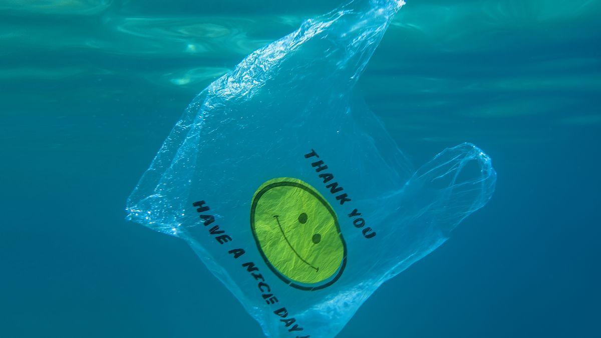 Una bolsa de plástico en el mar, en una imagen de archivo.