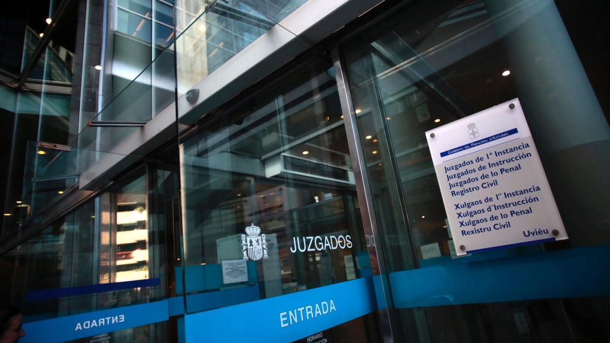 Los juzgados de Oviedo.
