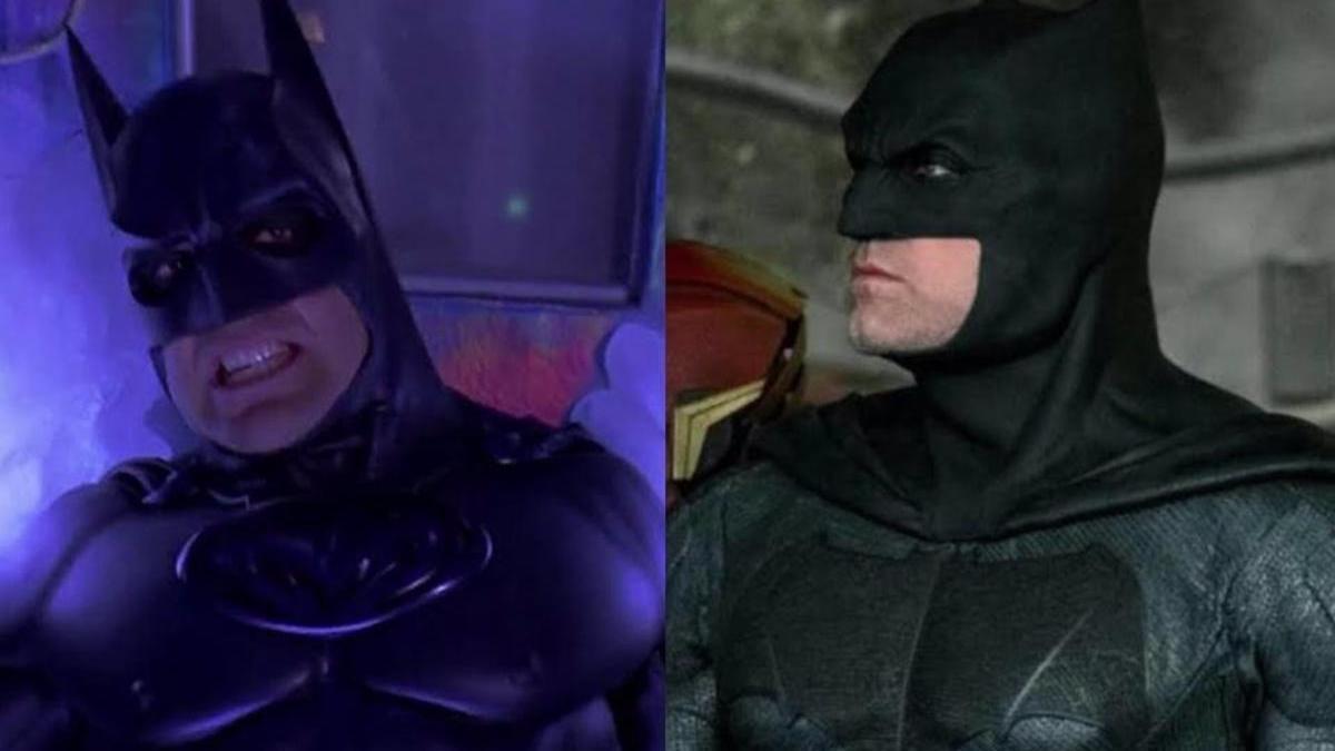 George Clooney y Ben Affleck como Batman.