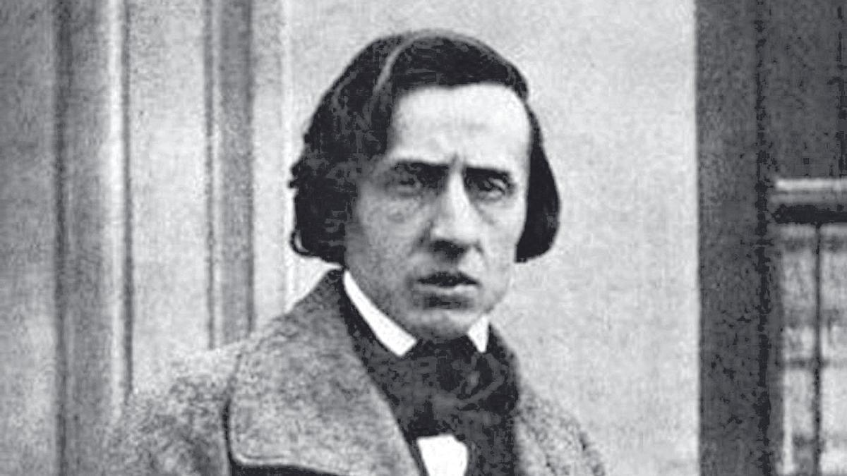 Una de las escasas fotografías de Chopin que se conservan.